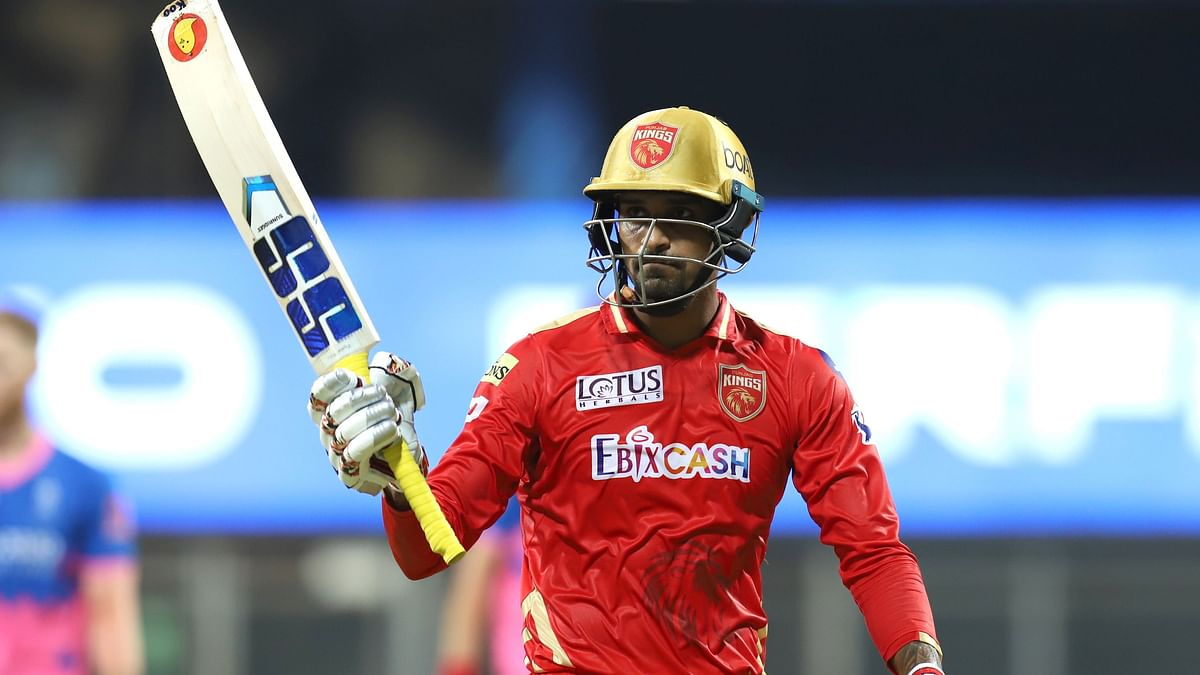 The 25-year-old scored a half century for Punjab Kings on Monday night vs RR.