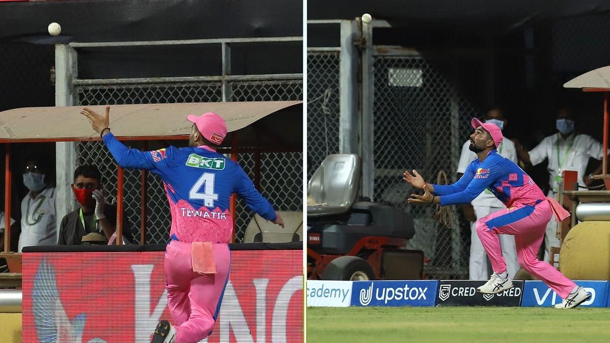 Rahul Tewatia's Sensational Catch Denies KL Rahul a Century