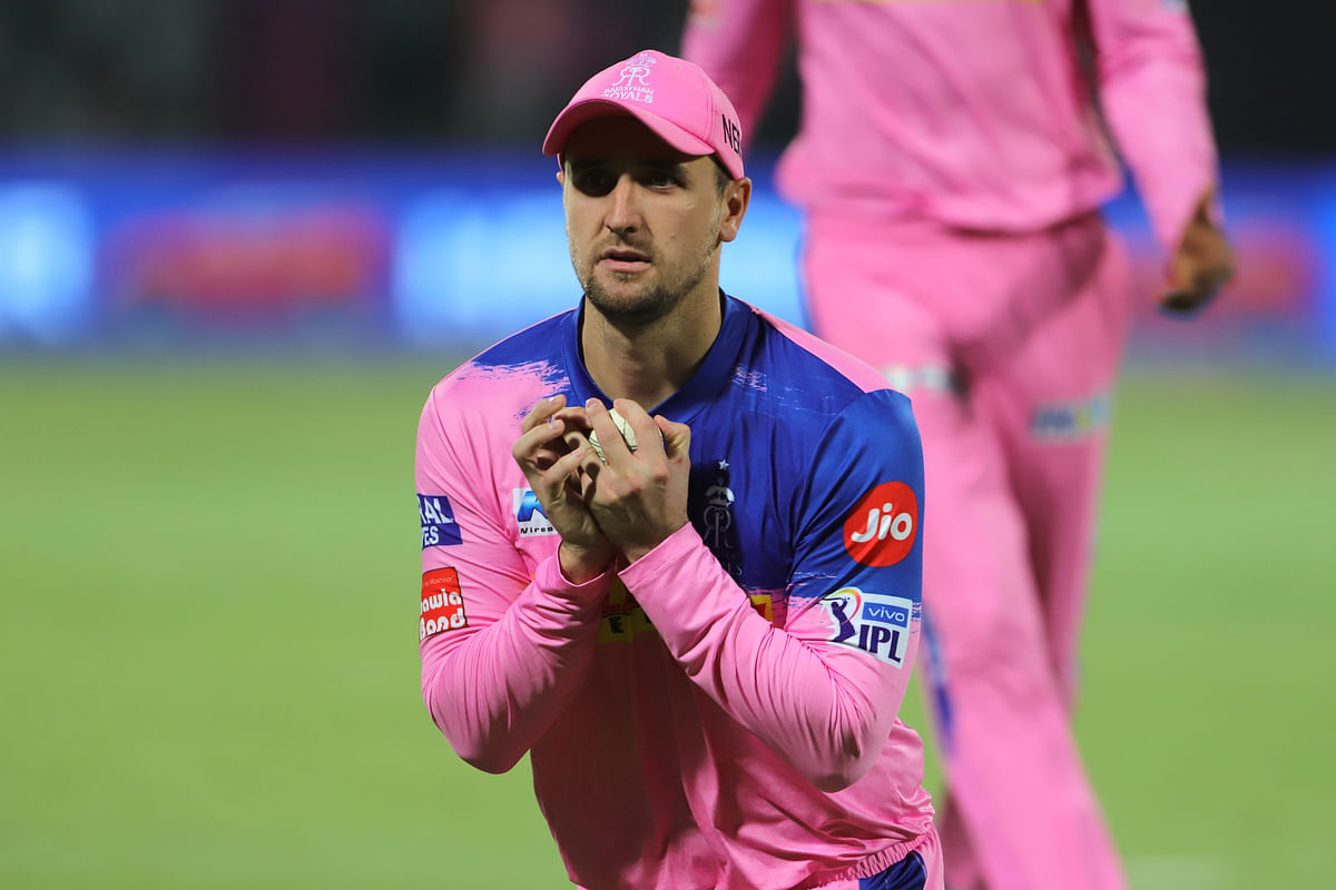 File picture of Liam Livingstone  taking the catch to dismiss Sherfane Rutherford of Delhi Capitals during match 53 of the Vivo Indian Premier League Season 12 in 2019.