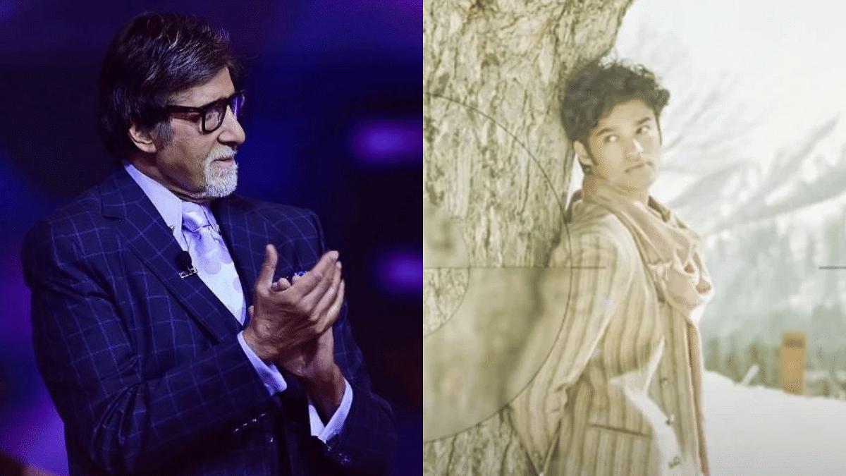 """<div class=""""paragraphs""""><p>Amitabh Bachchan; Babil Khan in 'Qala'</p></div>"""
