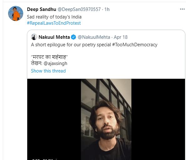 Nakuul Mehta Recites Powerful Poem Depicting Indian COVID Crisis