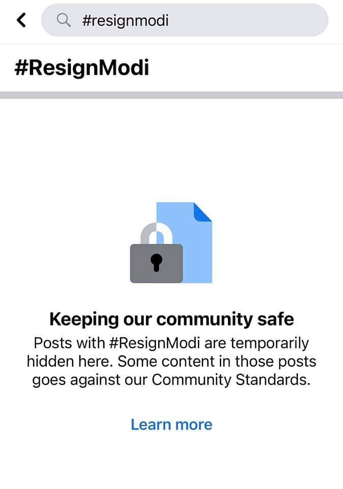 FB 'Accidentally' Blocks #ResignModi; Govt Says Didn't Ask For It