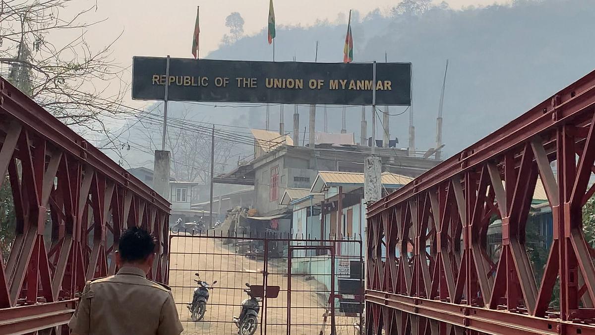 "<div class=""paragraphs""><p>The India-Myanmar Border Gate at Champhai, Mizoram.&nbsp;</p></div>"