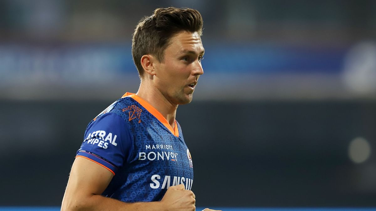 Trent Boult during a training session.