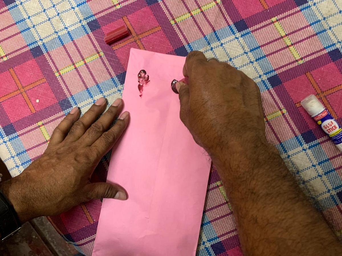 Sealed envelope of postal vote