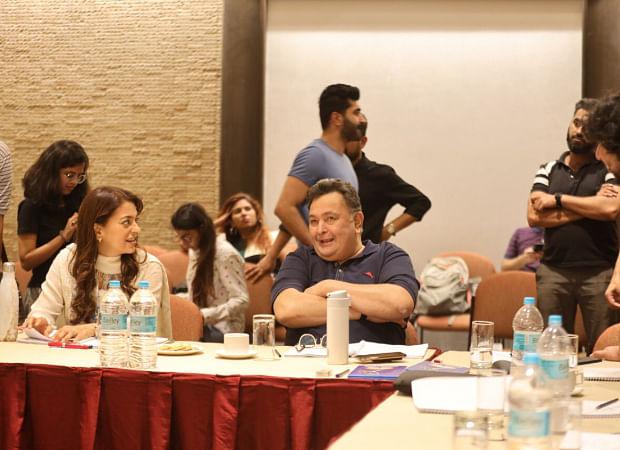 During a reading session for <i>Sharmaji Namkeen.</i>