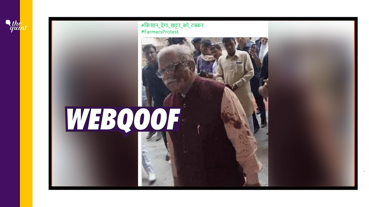 Old Pic of Oil Thrown on Haryana CM Revived Amid Farmers' Protests