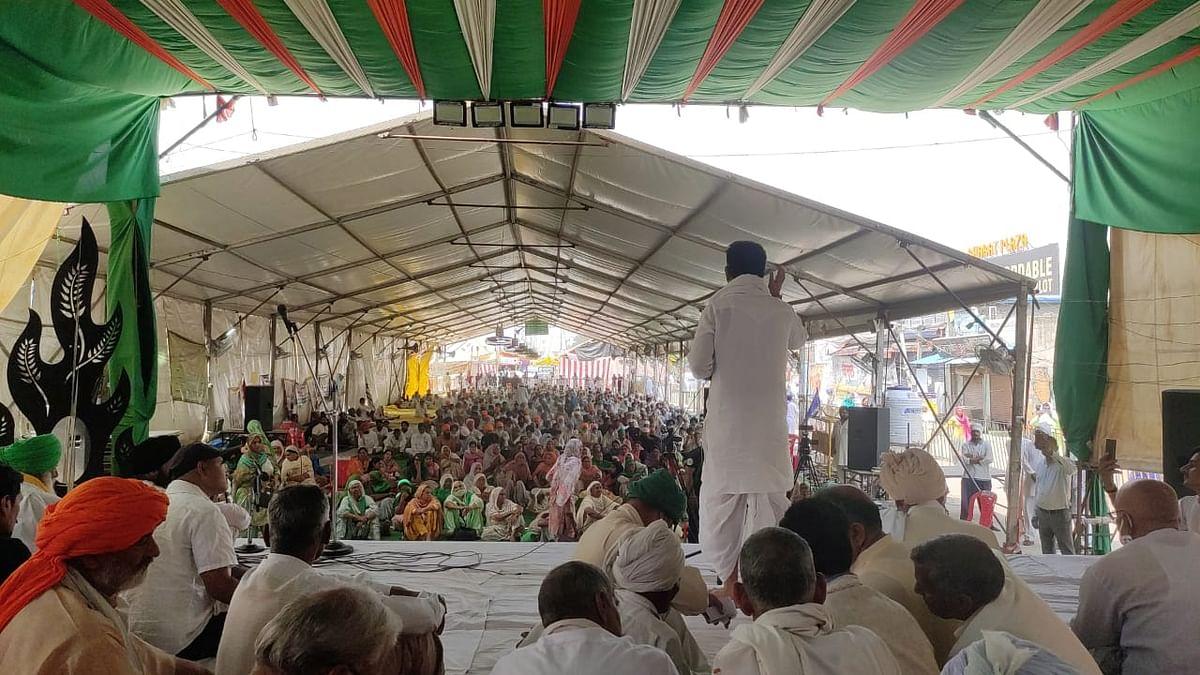 Image of a Samyukt Kisan Morcha gathering used for representational purposes.