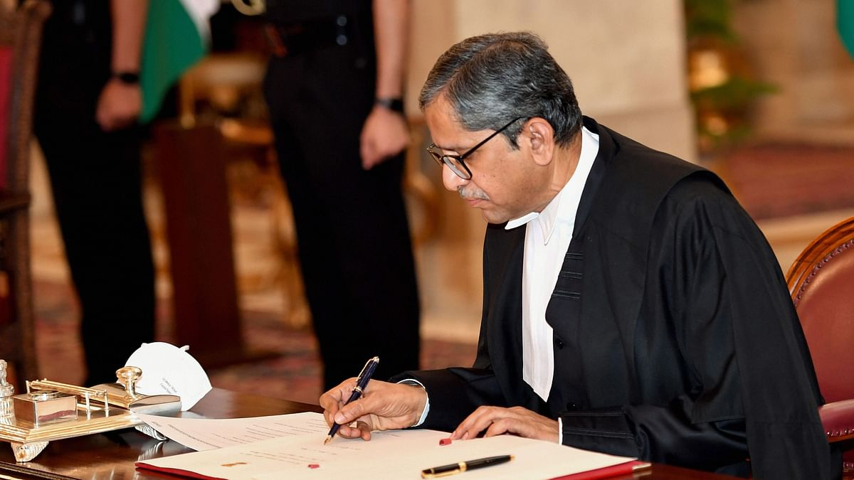 Justice NV Ramana on Saturday, 24 April, took oath as the new Chief Justice of India (CJI).
