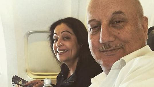 "<div class=""paragraphs""><p>Kirron Kher with husband Anupam Kher</p></div>"