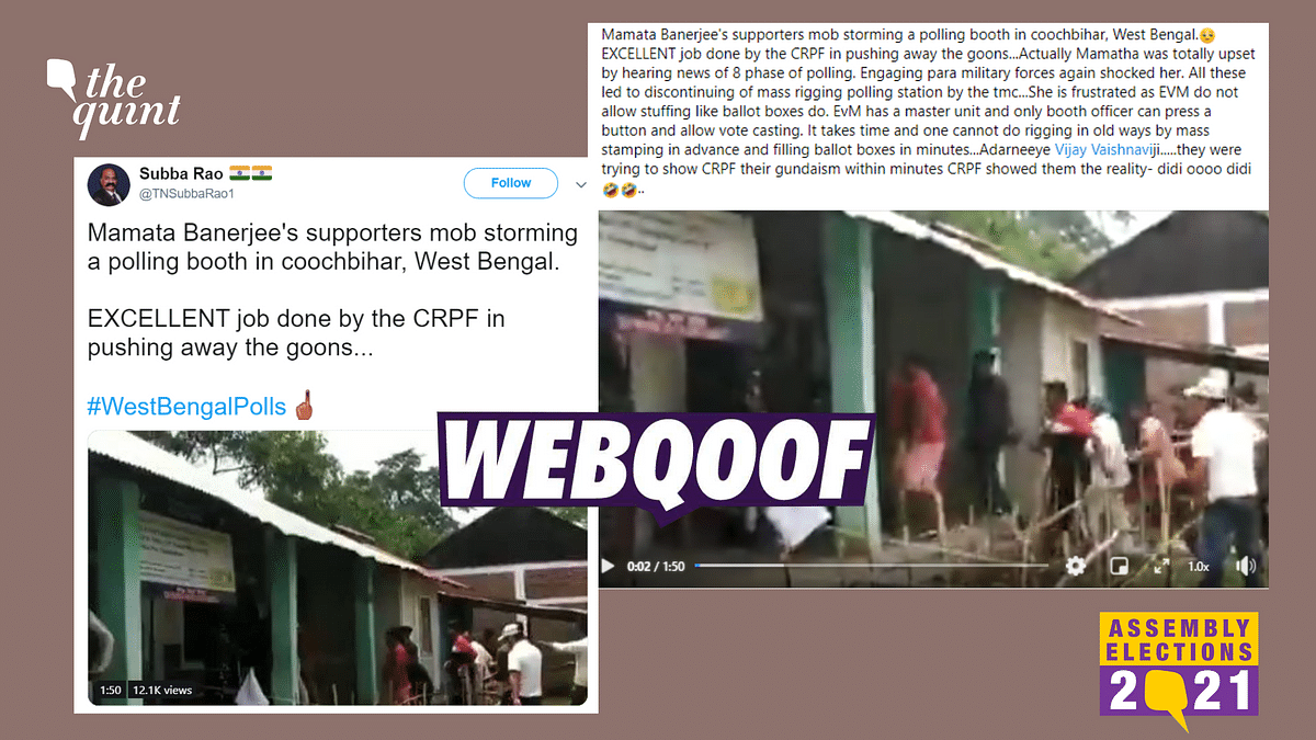 Fact-Check of West Bengal Assembly Elections | We found that the video was actually form a 2019 incident that occurred at a polling station in Manipur.
