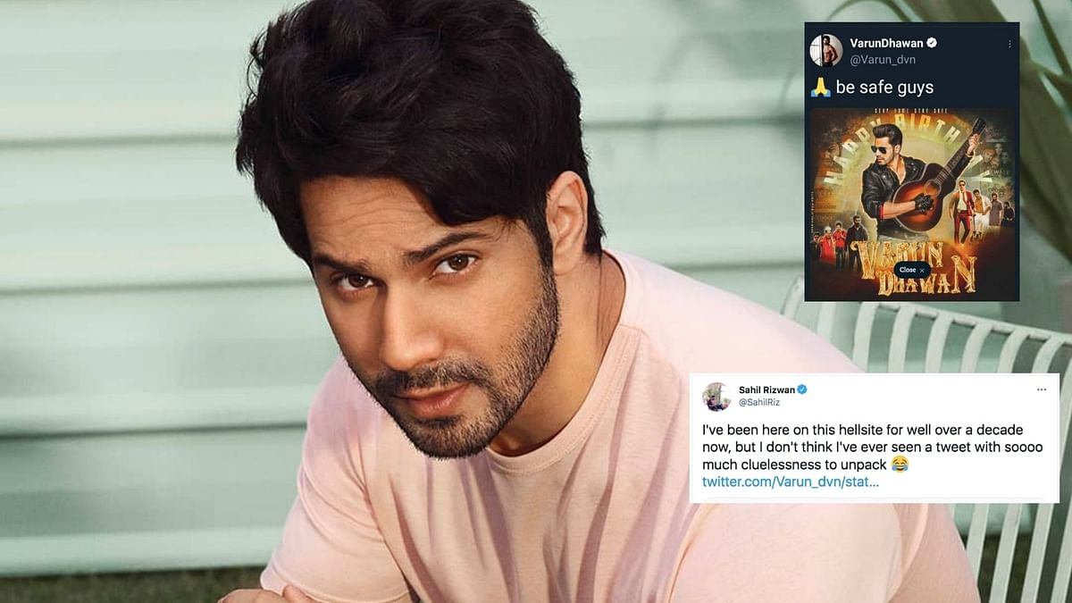 """<div class=""""paragraphs""""><p>Varun Dhawan has been called out for a tone-deaf tweet.</p></div>"""