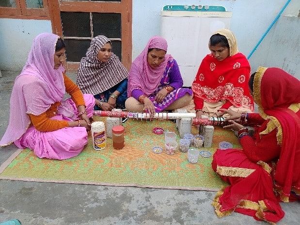A group of women entrepreneurs from Haryana was able to list their bangle-making business on Facebook.