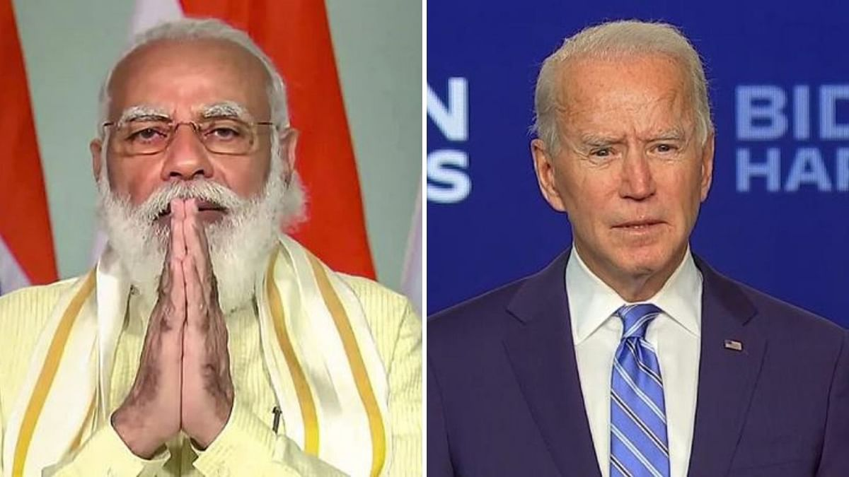 File photos of PM Modi and US President Joe Biden