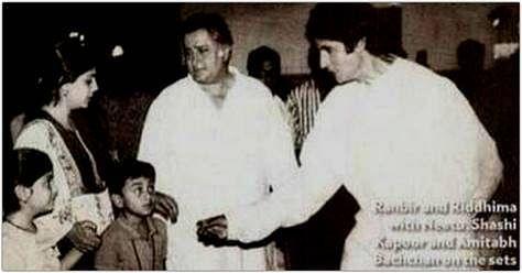 Amitabh Bachchan Shares Pic of a Tiny Ranbir From 'Ajooba' Sets