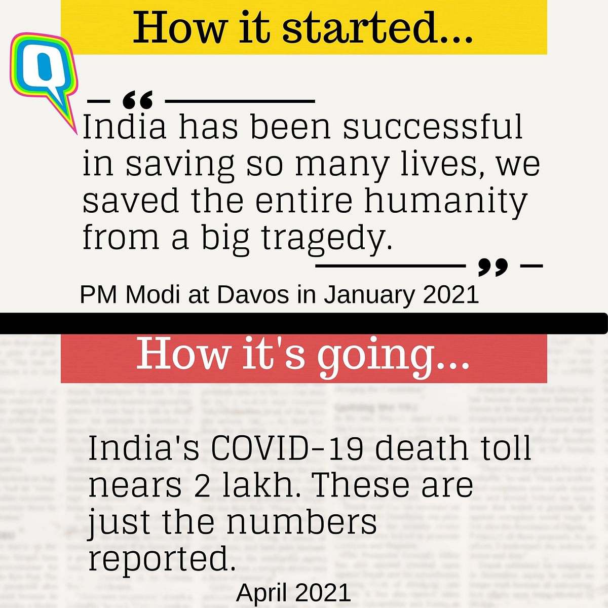 On 26 April, India recorded the highest-ever spike with 3.52 lakh new cases and 2,812 deaths.