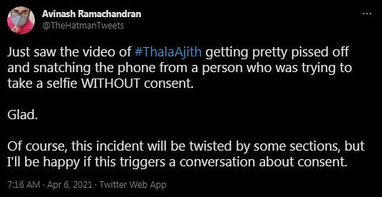 Tamil Star Ajith Snatches Phone from Fan, Video Goes Viral