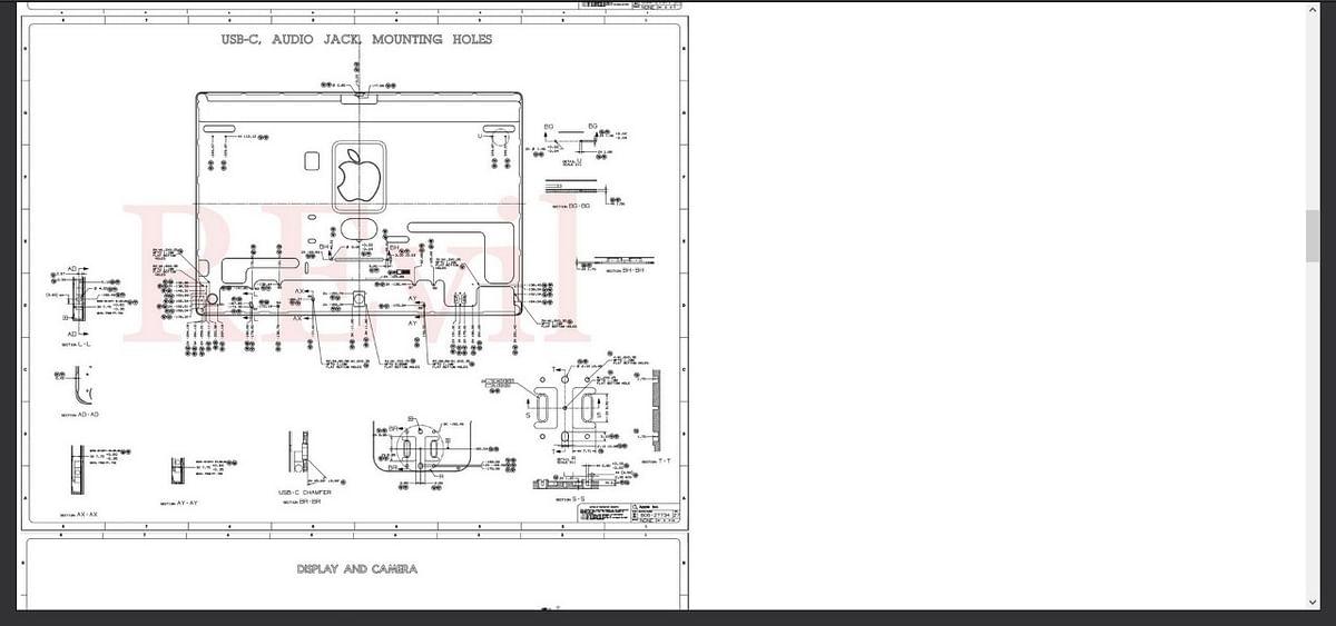 """<div class=""""paragraphs""""><p>Leak 2:&nbsp; Blueprint of USB-C and Audio Jack.</p></div>"""