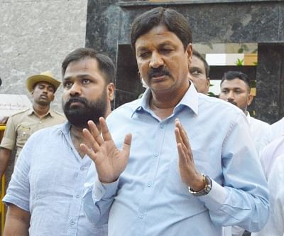 """<div class=""""paragraphs""""><p>Bengaluru: Former Minister and MLA from Gokak constituency,&nbsp;Ramesh Jarkiholi addressing a press conference on the CD scandal at his residence at Sadashivnagar, in Bengaluru  on Saturday March 27, 2021.</p></div>"""