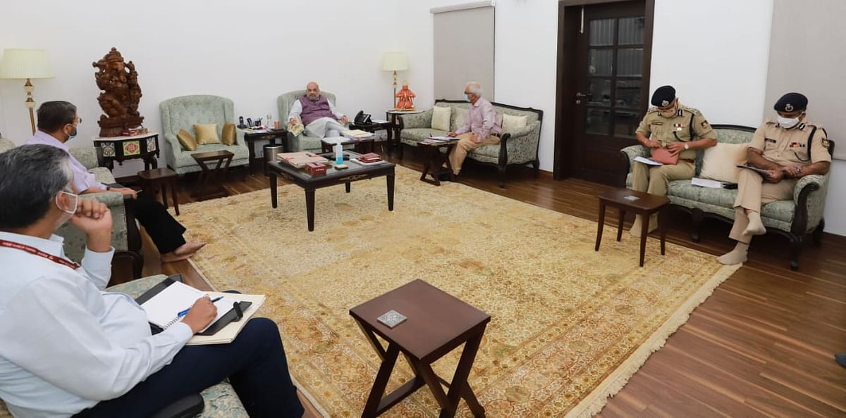 Amit Shah held a high-level security meeting with Union Home Secretary Ajay Bhalla