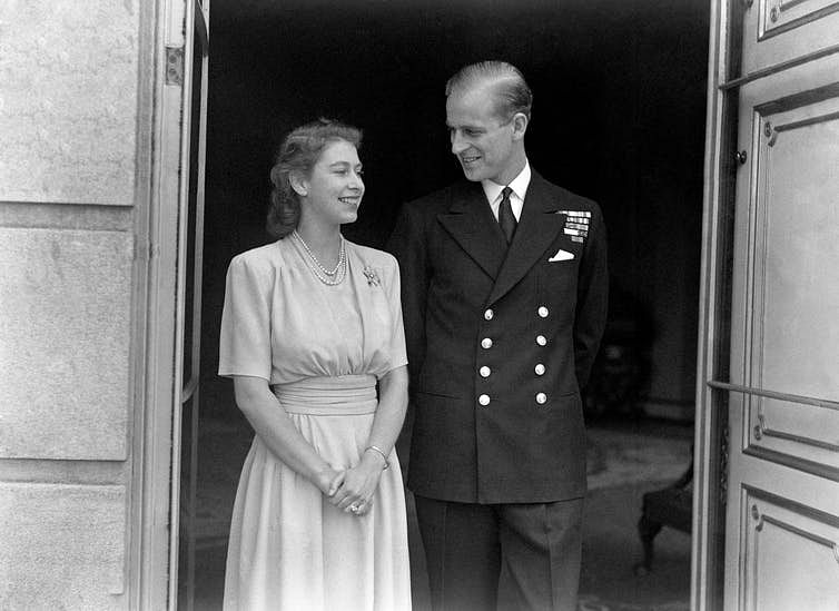 The official 1947 engagement picture for Princess Elizabeth and her youthful consort.
