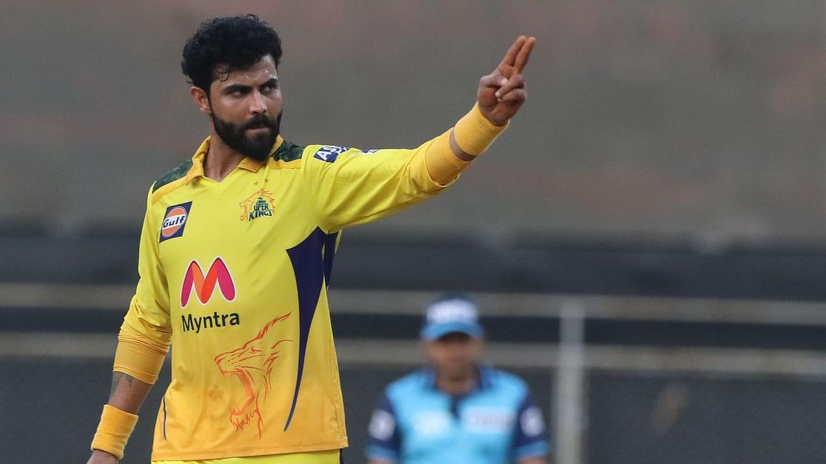 Ravindra Jadeja celebrates a wicket against RCB.