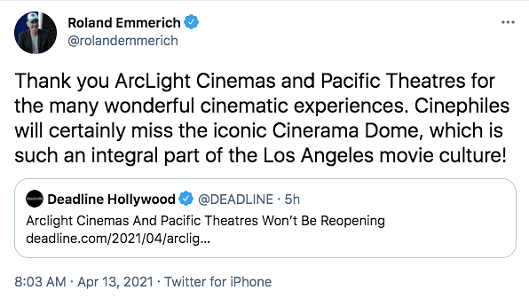 ArcLight Cinemas & Pacific Theatres in the US to Close For Good
