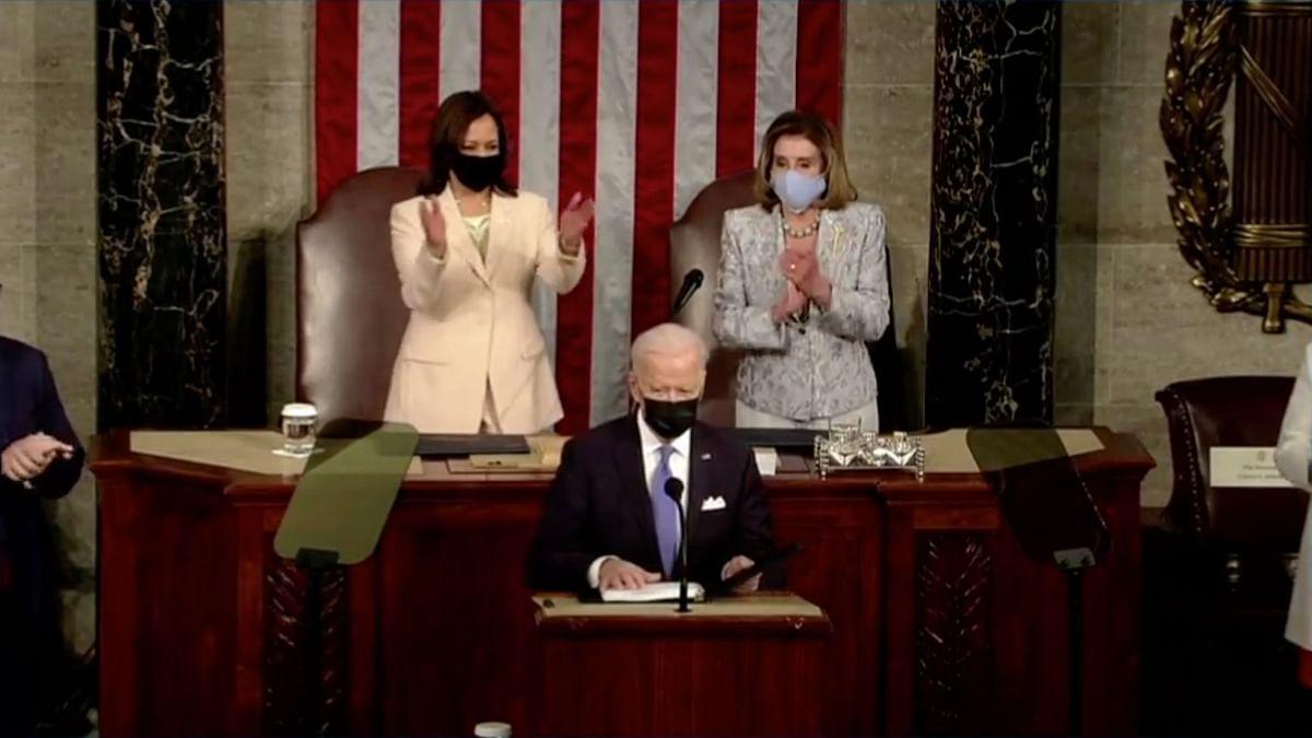 US President Joe Biden Addressing Congress
