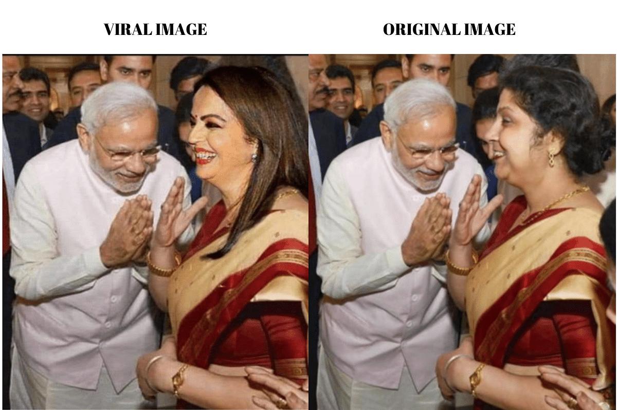 Left: Viral image. Right: Original image.