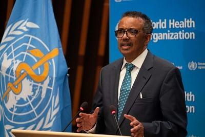 WHO Chief Tedros Adhanom Ghebreyesus file photo.