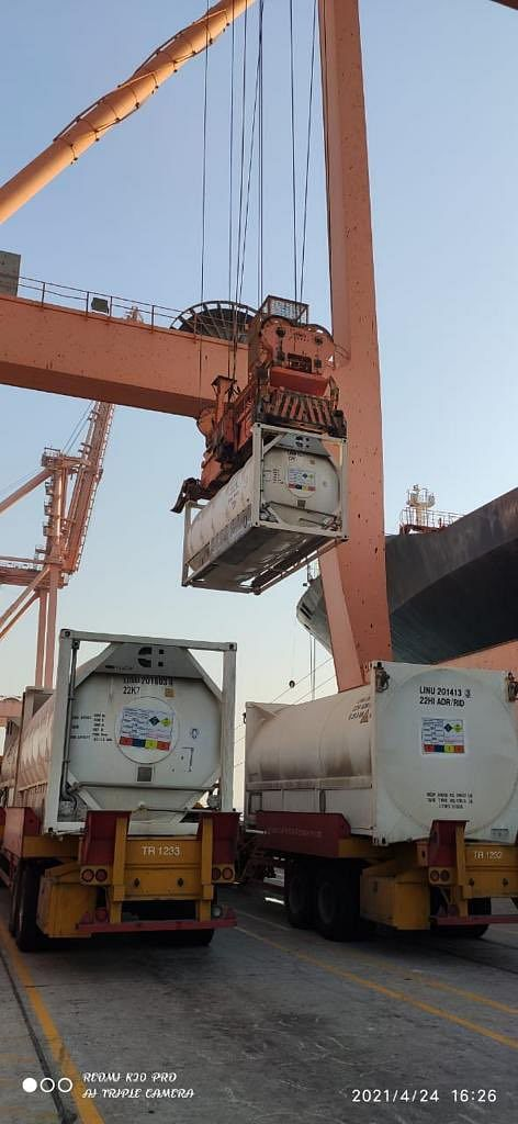 Video of Oxygen Express From Maha Shared as Saudi Arabia's Supply