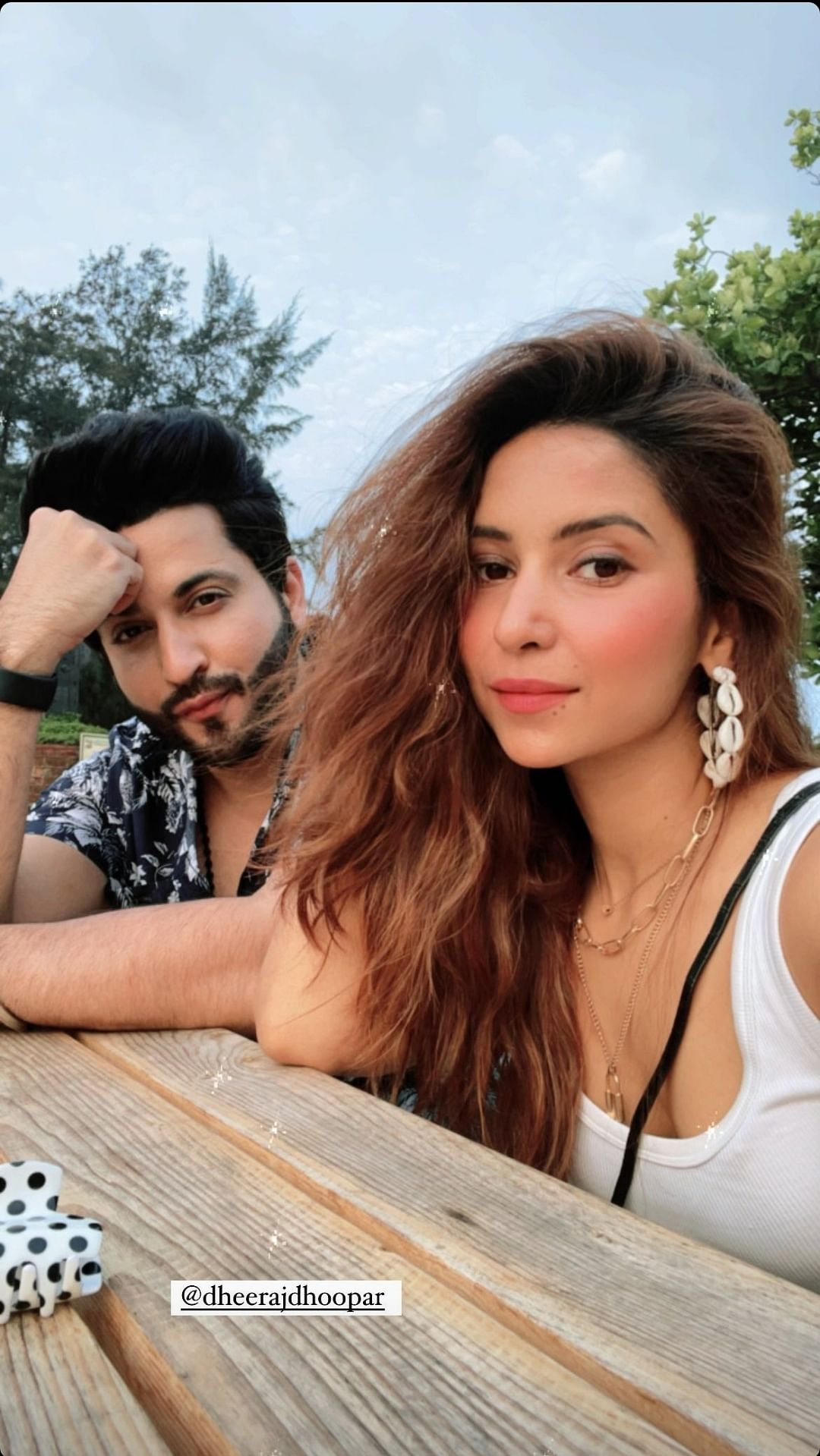 Dheeraj Dhoopar with wife in Goa to shoot for next 25 days.