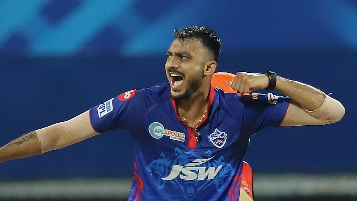 Axar Patel was playing his first match of the 2021 IPL season after recovering from COVID-19 last week.