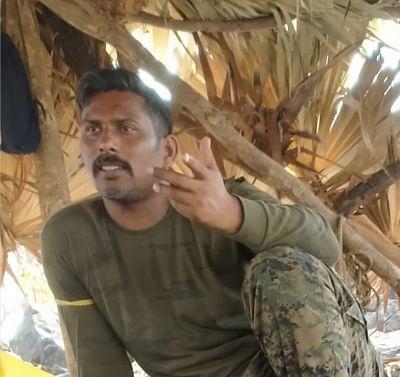 CRPF commando in Maoist captivity.