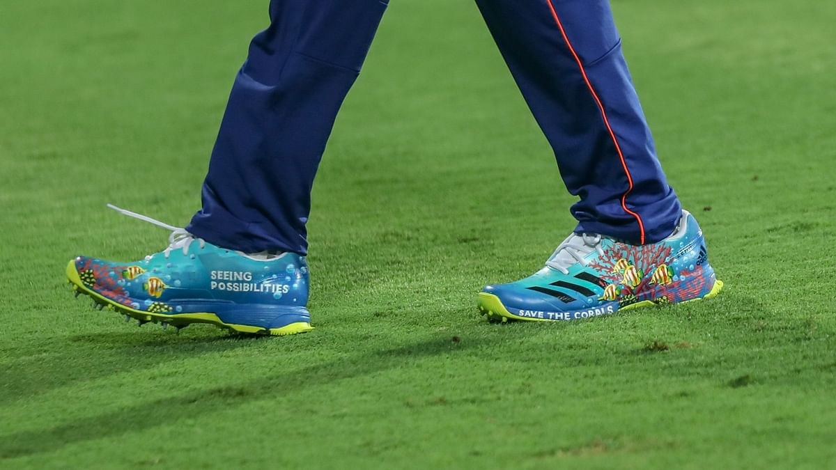 Rohit Sharma's shoes in the game against SRH.