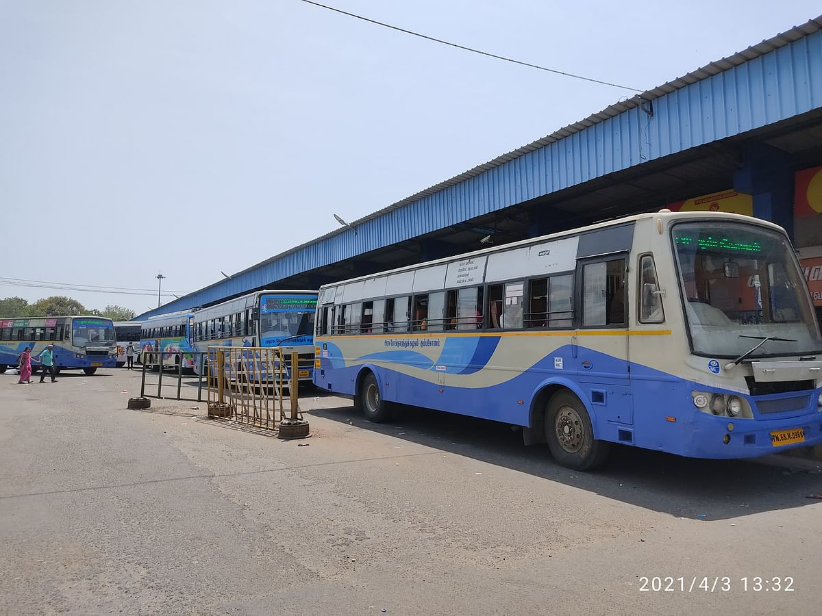 Trichy City main bus stop