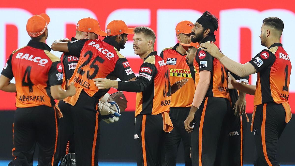 Mumbai Indians posted 150/5 in the IPL 2021 match on Saturday night vs Sunrisers Hyderabad.