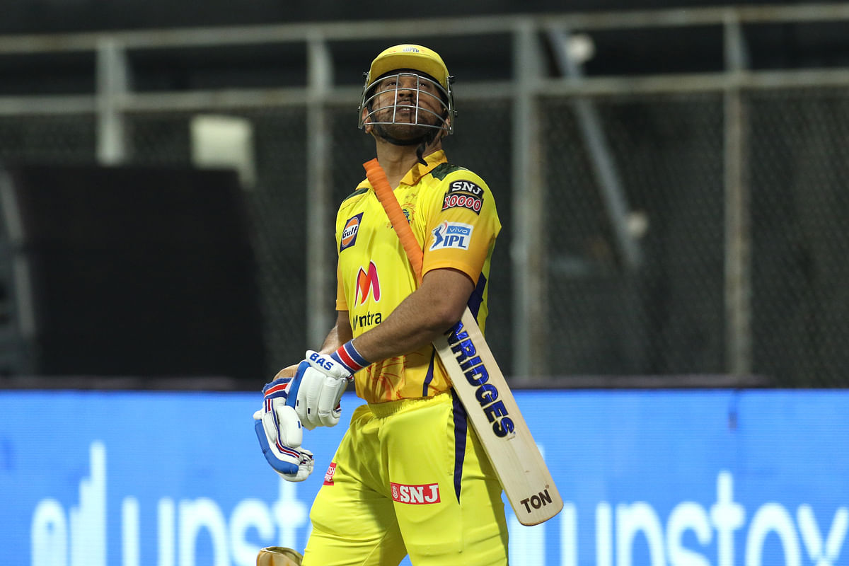 MS Dhoni scored 18 runs off 17 deliveries in the IPL 2021 match against Rajasthan Royals.