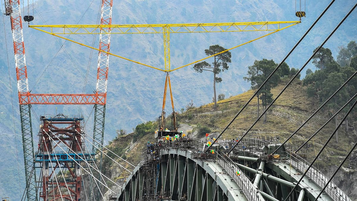 Watch: Arch Of World's Highest Train Bridge Over Chenab Completed