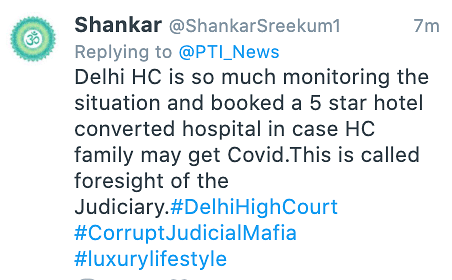 Netizens have come down heavily on the decision, tweeting that HC judges must face the same ground reality of overwhelmed infrastructure as common people.
