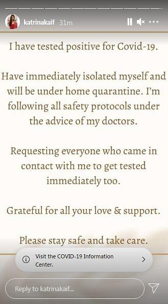 Katrina Kaif Under Home Quarantine After COVID-19 Diagnosis