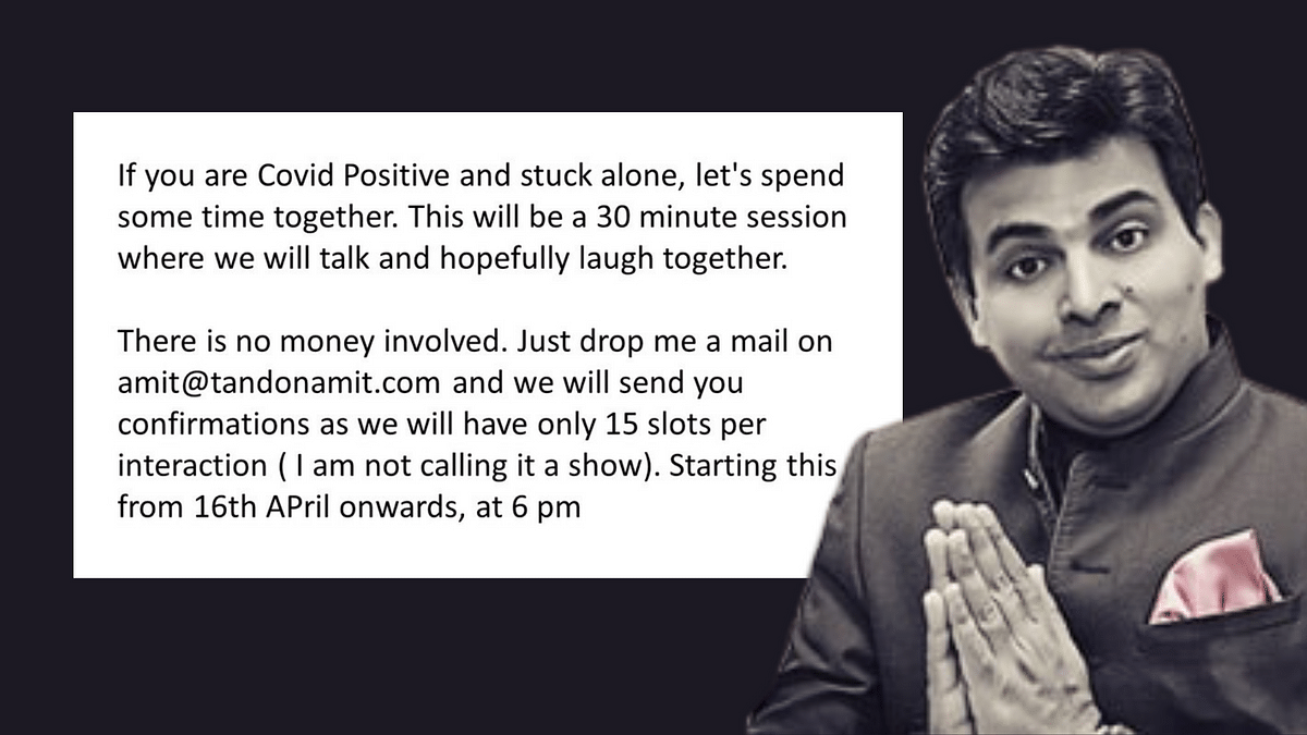 Amit Tandon Offers Online Session for COVID+ Audience, Gets Praise