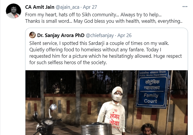 Twitter Hails 'Silent Service' of Man Giving Free Food to the Poor