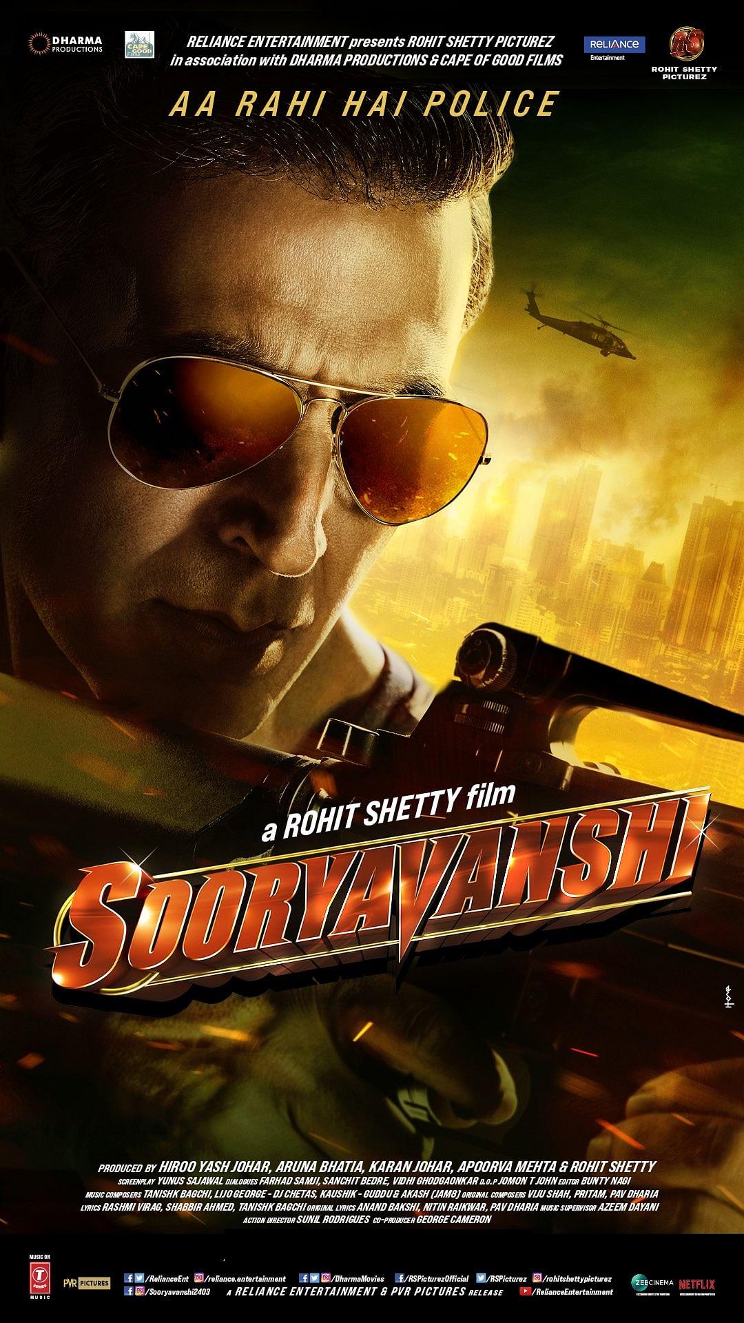 <i>Sooryavanshi's</i> official poster.