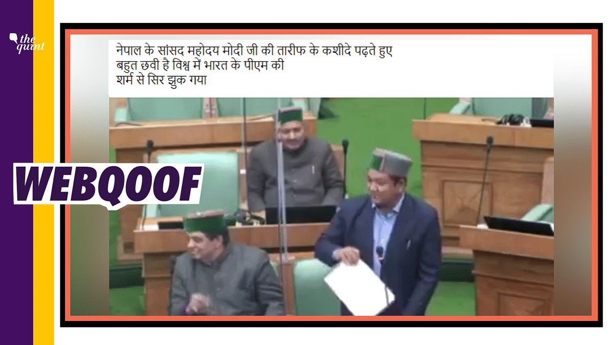Himachal Cong MLA's Video Shared as Nepal MP Criticising PM Modi