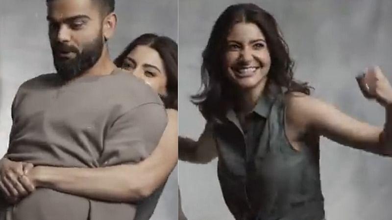 Anushka Sharma Attempts to Lift Virat Kohli in Hilarious Video