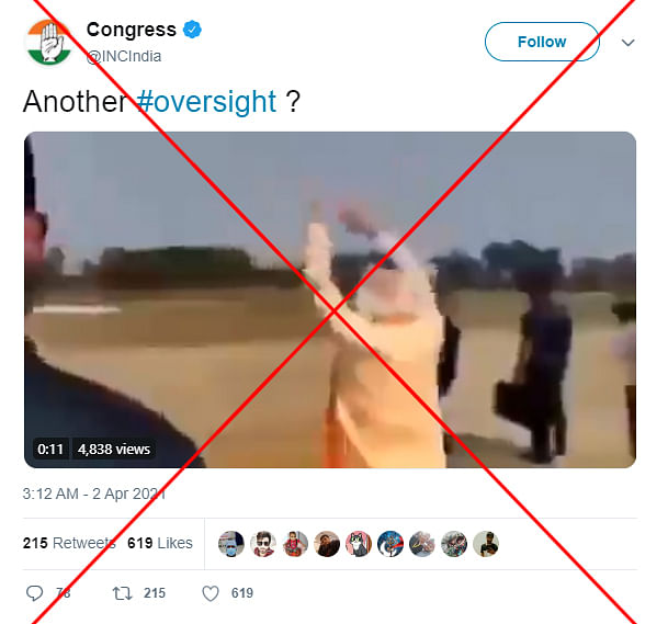 "An archived version of the post can be found <a href=""https://web.archive.org/web/20210402102421/https://twitter.com/incindia/status/1377926978444029957"">here</a>."