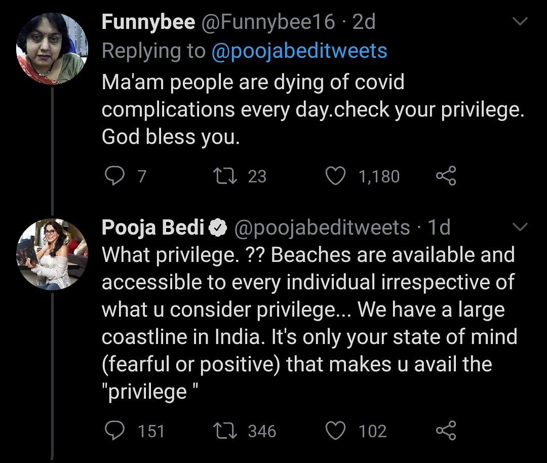 Pooja Bedi's Anti-Mask Post Irks Netizens, the Actor Responds