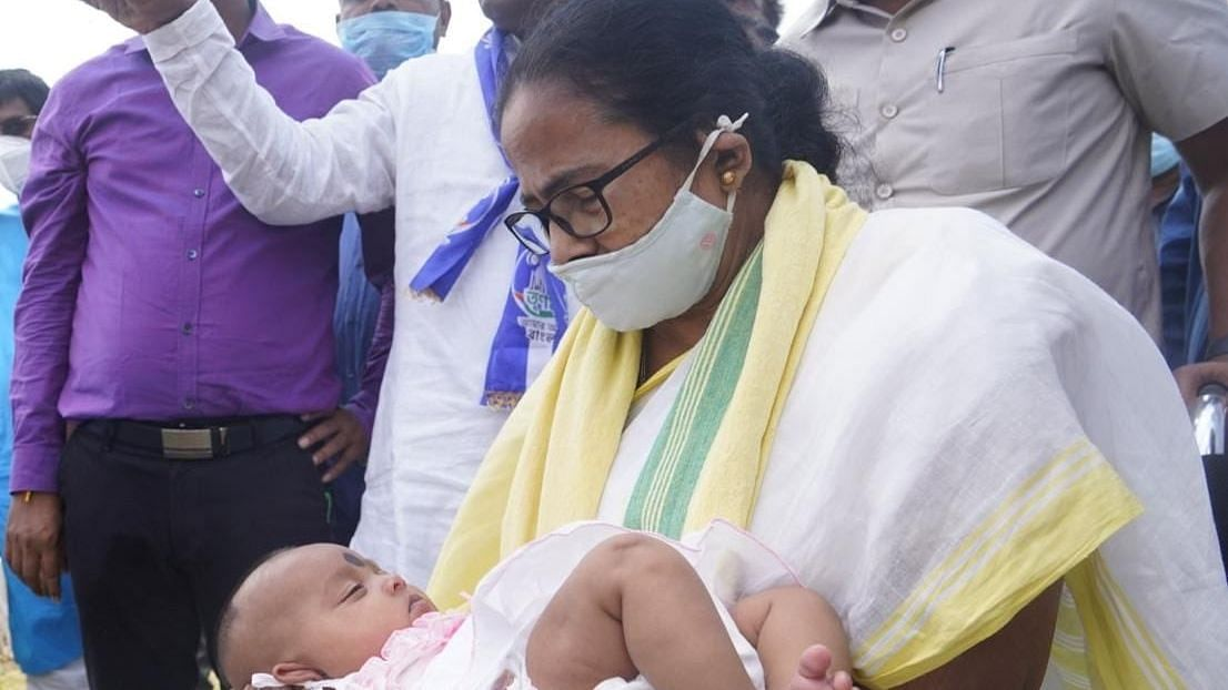Mamata Banerjee  visits the families of those who were killed in CISF firing at a polling booth in Cooch Behar district.