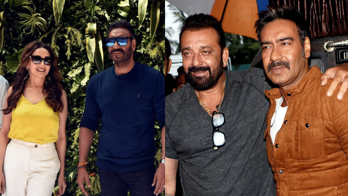 """<div class=""""paragraphs""""><p>Madhuri, Kajol, Sanjay, and other celebs wished Ajay Devgn on his 52nd birthday</p></div>"""